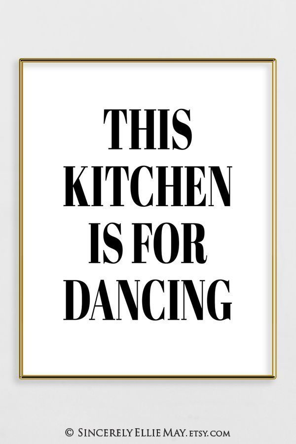 Funny Kitchen Wall Art Quote Printable As Created By Online Designer