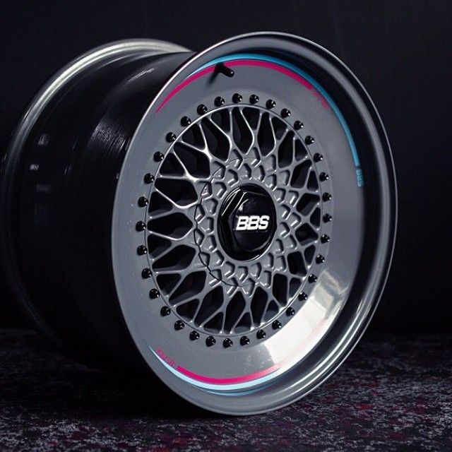 """Now you have seen the details that makes this #wheel from @jsutai a stand out, lets have a look at the whole wheel. The BBS RS wheel has been converted from a 16"""" to an 18"""" wheel by using different lips and a bigger barrel. It does create a very interesting look, one that is sure to be either a #love or #hate decision for a lot of people. One of the highlights is the use of colours with steel grey, black, pink & blue working extremely well together. I think a set of these #wheels would l..."""