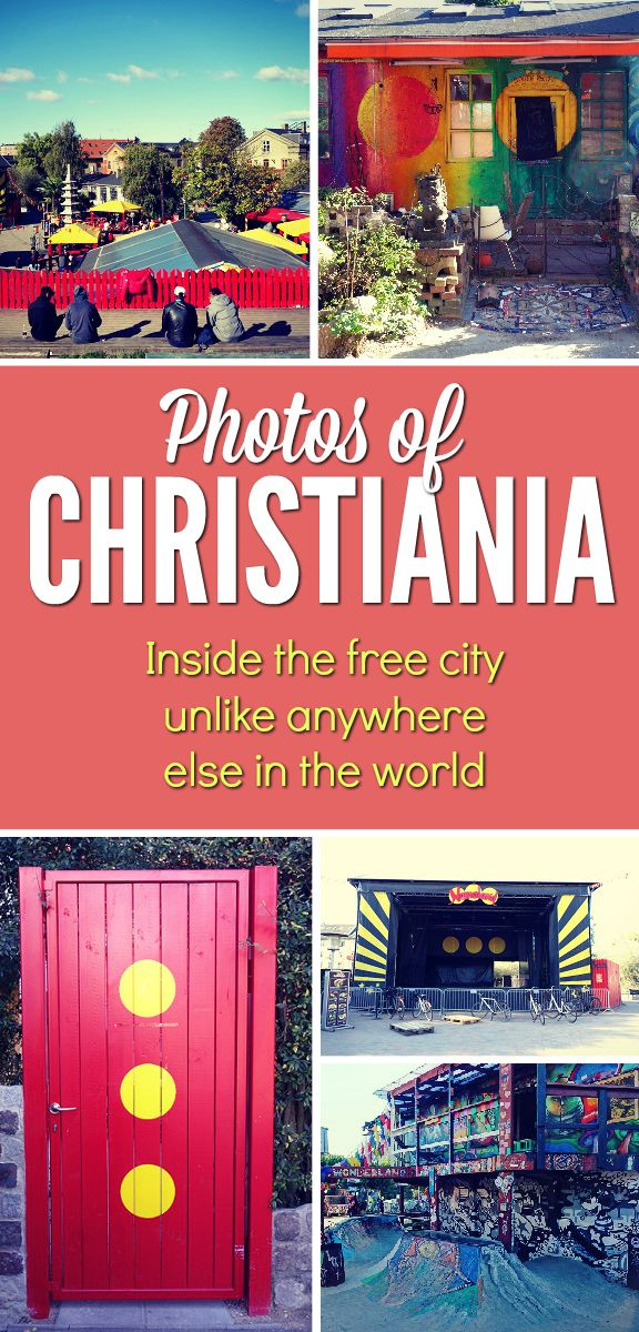 Photos of the famous Christiania - the free city of hippies and free thinkers in central Copenhagen. Unlike anywhere else in the world!