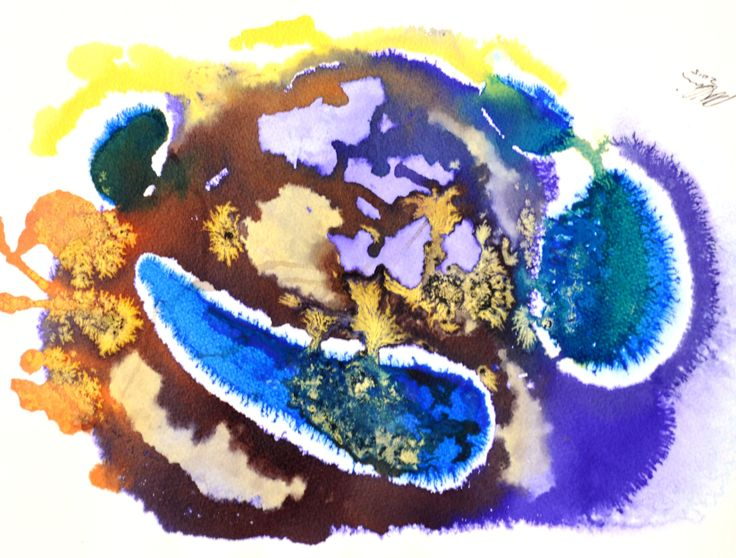Cockleburs was done with ink and watercolors on wet, cold pressed paper. See rloliverartist.com for more works.