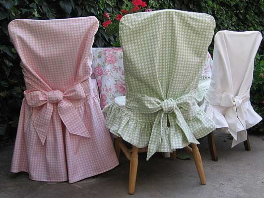 Slipcovers for Armless Dining Room Chairs