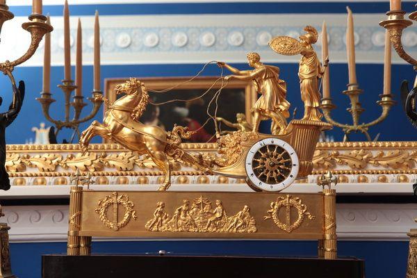 """Часы """"Колесница Телемаха"""", 1800-1810 Франция"""