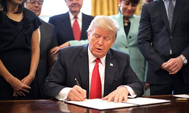 Trump takes a buzzsaw to regs: Agencies must cut two for every new one #DailyMail