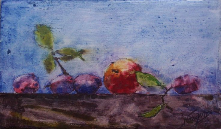 still life watercolor by Babis Douzepis