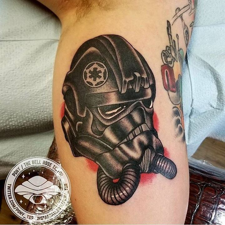 olio.tattoo Starwars Helmet Fighter Tattoo by Pony from The Bell Rose Tattoo & Piercing - Daphne, AL @pony_tbr #starwars #helmet #fighter -- More at: https://olio.tattoo/tattoo-images/mentions:starwars