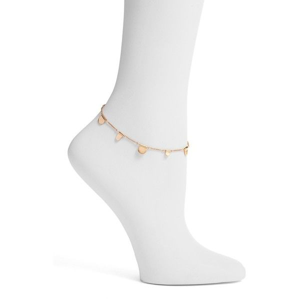 Women's Kendra Scott Tabi Anklet (16 KWD) ❤ liked on Polyvore featuring jewelry, rose gold, shiny charm, red gold jewelry, kendra scott, anklet jewelry and rose gold charms