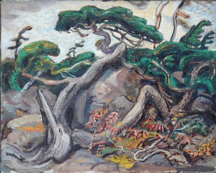 Arthur Lismer - Twisted Pine 12 x 15 Oil on panel (1919)