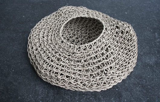 Basket Weaving Using A Paper Cup : Woven paper baskets using a traditional korean method by