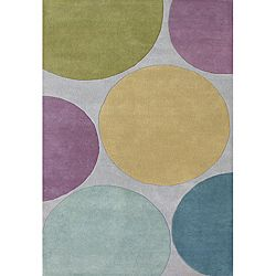 Hand-tufted Metro Circles Multicolored Wool Rug (8' x 10')