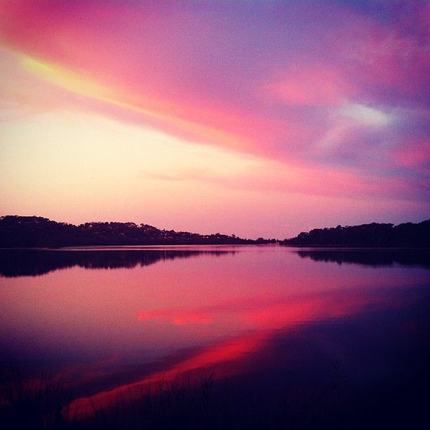 Last night's delight #sunset #lake #narrabeen. MorningPics - Delivering past Instagram memories to your inbox every morning