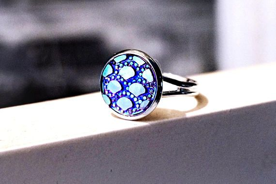 Ring psychedelic trance hippie hippies clothing mushrooms boho