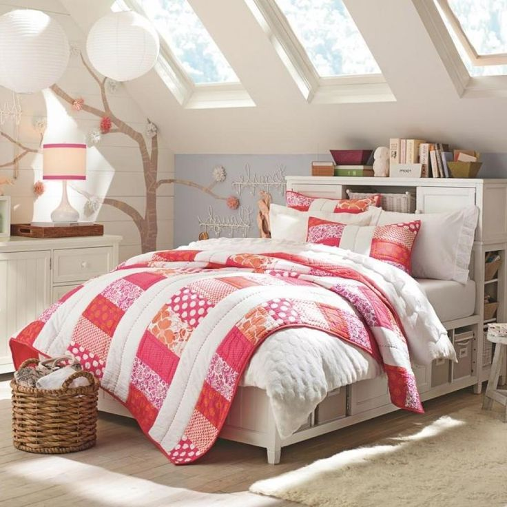 Girls Bedroom Decoration Ides: Attic Room Ideas For Teenagers. Girls