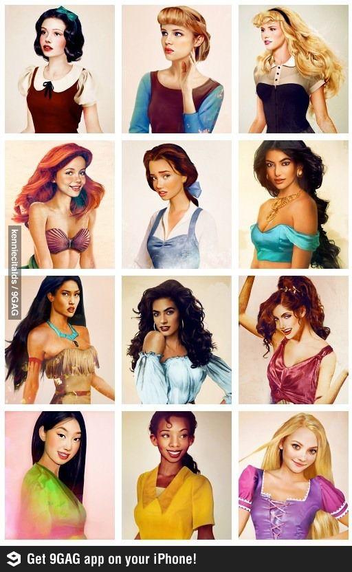 Realistic Disney princesses.