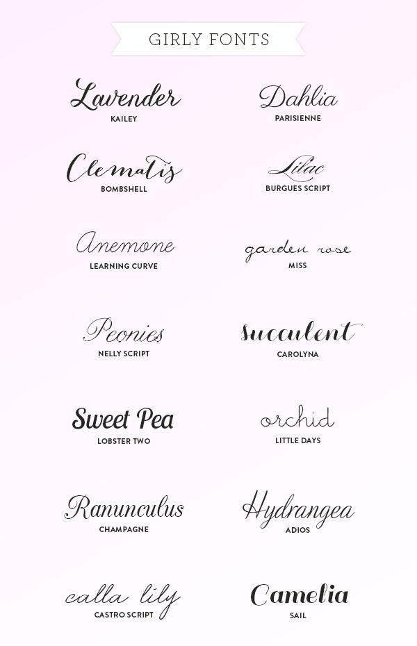 Girly Cursive And Handwritten Fonts Girly Fonts Tattoo Fonts Tattoos