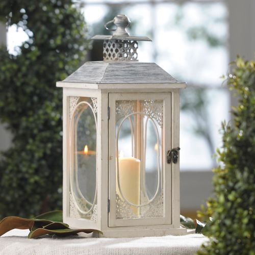 We have 20 of these lanterns for reception tables. 8L x 8W x 18H in. Antiqued…