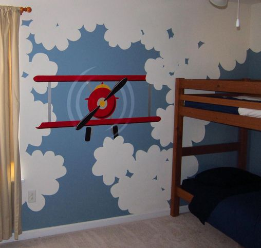 17 best ideas about kids wall murals on pinterest kids for Aeroplane wall mural