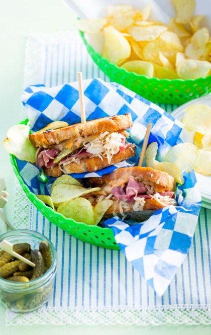 Recept voor smeuïge Reuben sandwich