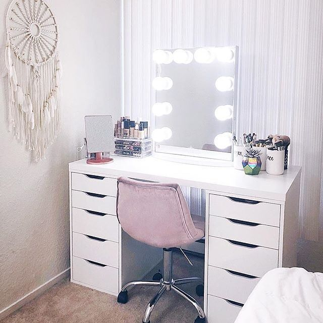 We Love A Boho Inspired Ikea Vanity Ikea Alex Drawers Vanity Room