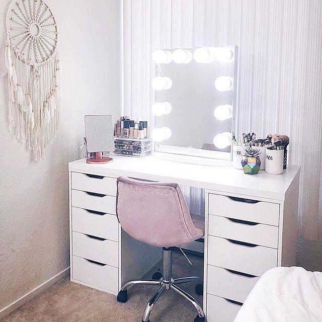 We Love A Boho Inspired Ikea Vanity Ikea Alex Drawers Vanity Decor