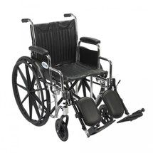 #wheelchair #Denver - Chrome Sport Wheelchair with Detachable Desk Arms and Elevating Leg Rest - cs18dda-elr