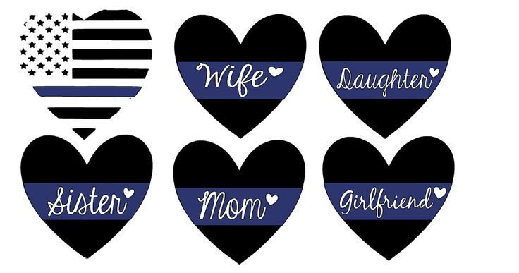 Law Enforcement Support Car Decal- Wife, Sister, Daughter, Mom, GF, Police Officer, Correction Officer, Corrections, Fireman, EMS, Cop Gift by MorningCupofAussie on Etsy https://www.etsy.com/listing/270336244/law-enforcement-support-car-decal-wife
