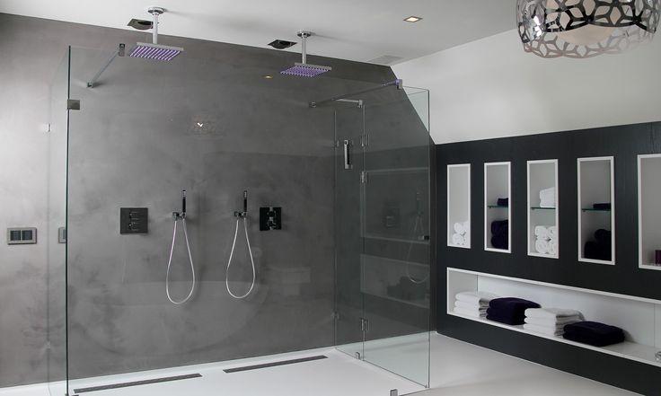 Dubbele douche #badkamer #ideeen #grijs