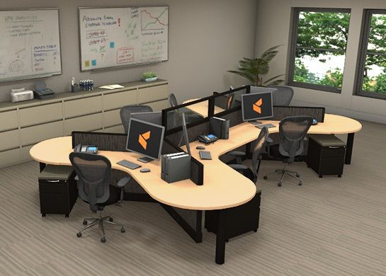 Office Workstations Optima 7 - Open Plan Systems & Cubicles.com proudly present: Optima office furniture workstations. This system is more affordable than any other system currently on the collaborative workspace market. #officeworkstations