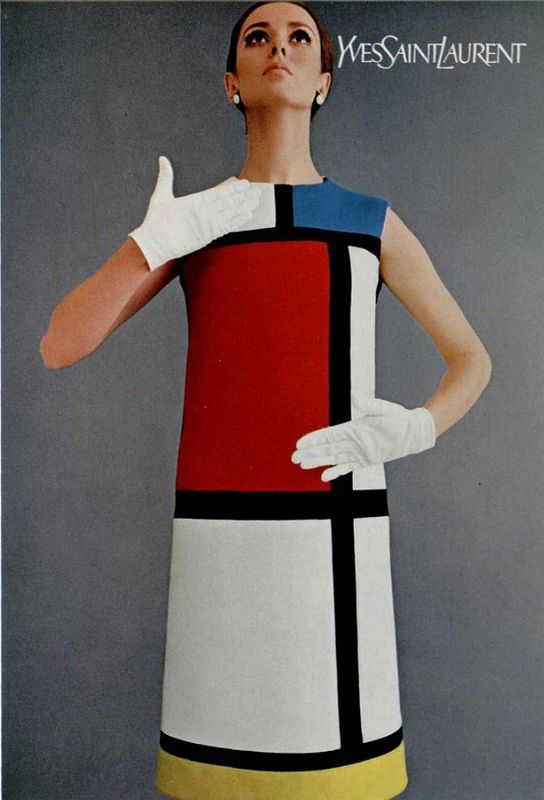 Mondrian Dress: 1966 - Yves Saint Laurent created this iconic dress that impacted art as well.