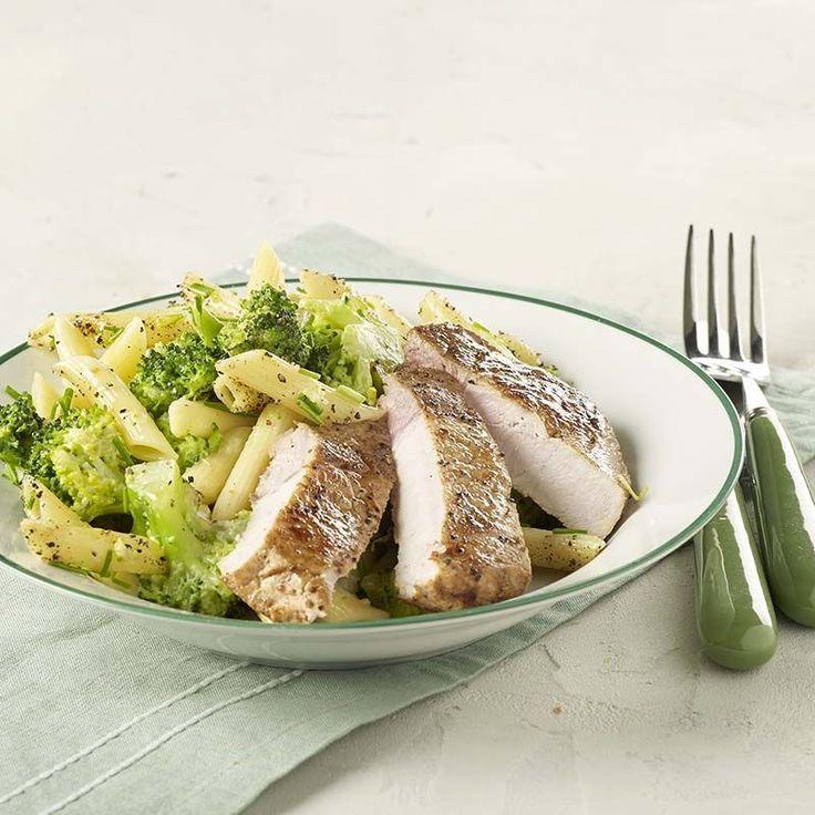 Romige broccolipasta met kotelet   Colruyt