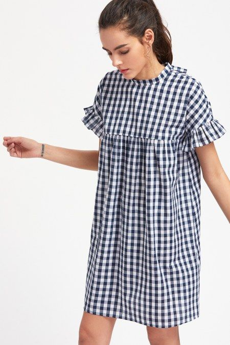 Vestido checkered ruffle - Negro  Compra en www.bonitas.com.co   Efecy, baloto, tarjetas debito y credito  #ropa #americana #zapatos #moda #love #look #girl #fashion #style #shopping #outfit #makeup #cute #shoes #bonitas #beautiful #trendy #Bogota #colombia #Colombiana