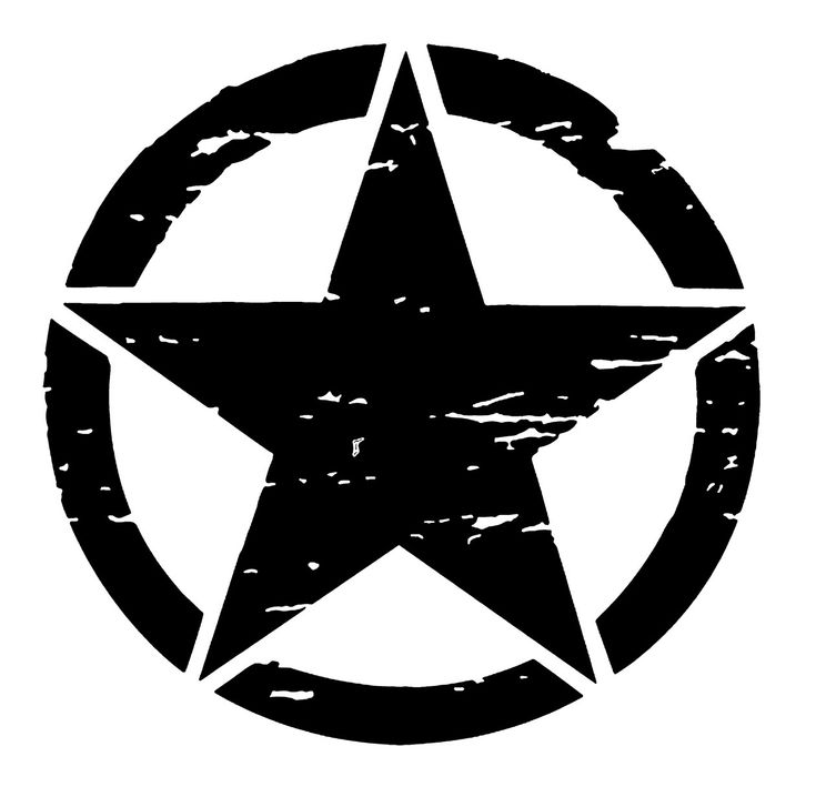 Army Jeep Star Logo Military Distressed Clipart Free
