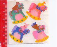 ROCKING HORSE - CAVALLO DONDOLO  80s Sandylion Canada sticker adesive kawaii