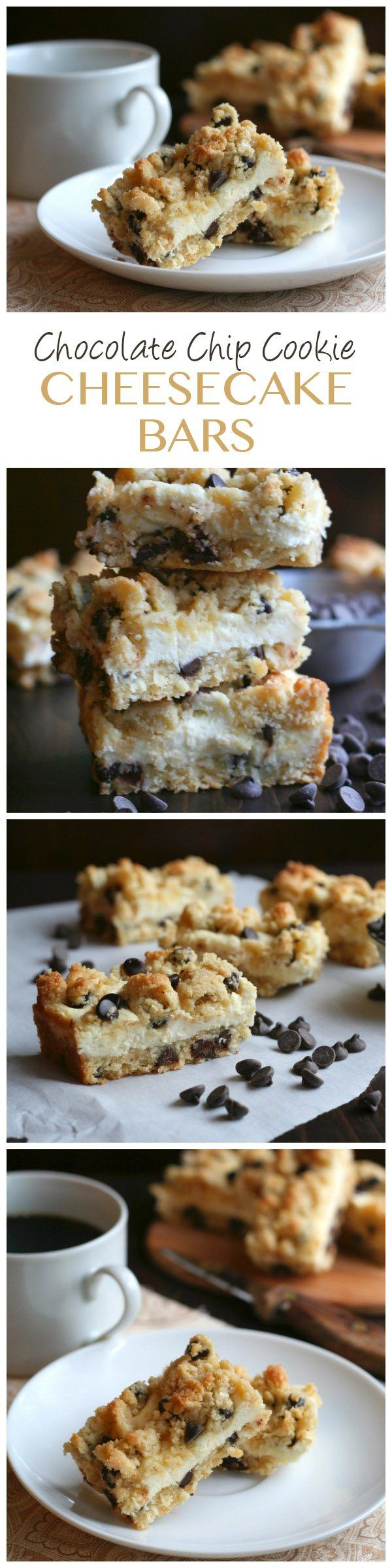 The best low carb chocolate chip cookie cheesecake bars. Seriously, two of your favorite desserts in one healthy package. Keto THM Banting recipe.  via @dreamaboutfood