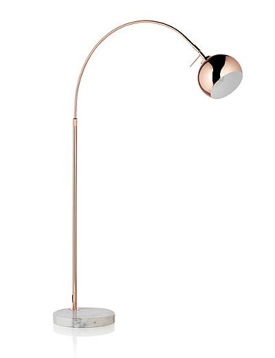 Copper Curve Floor Lamp Home