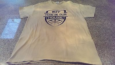 PITT PANTHERS BASKETBALL 'THIS IS OUR HOUSE' T-SHIRT size Women's M GUC!