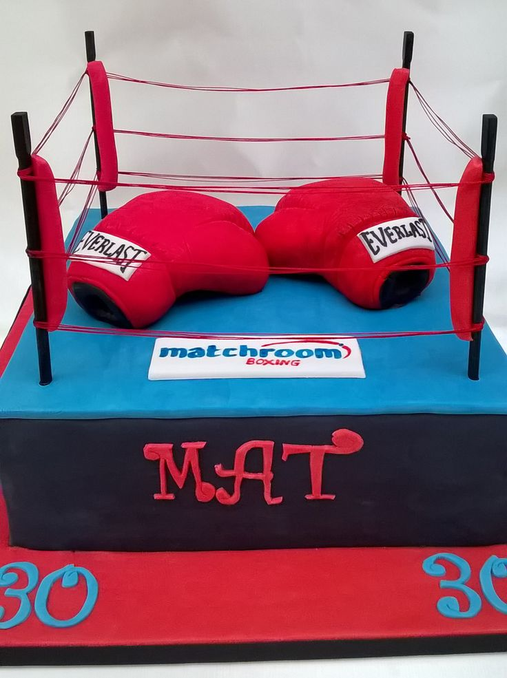 Boxing Ring Cake Decorations