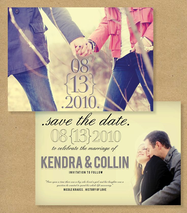 SAVE THE DATE - Printed or Printable personalized photo cards. $20.00, via Etsy.