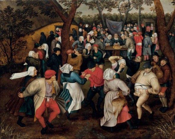 Brueghel il Giovane, Danza nuziale all'aperto, 1610 ca.