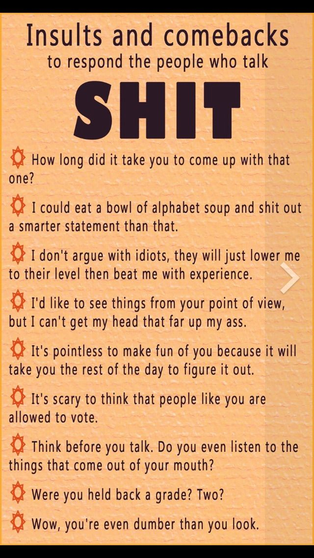 25 Best Ideas About One Liner Insults On Pinterest