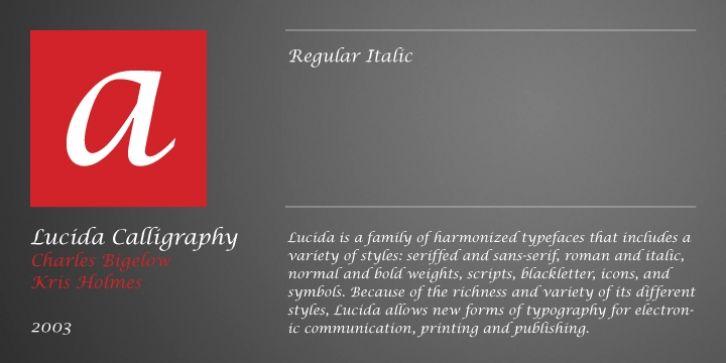 Lucida Calligraphy Font Download Fonts Pinterest