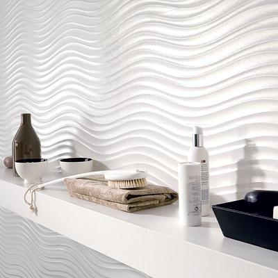 Porcelanosa qatar wall tile swirl white interior for Carrelage porcelanosa