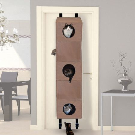 5 Tier Hangin' Cat Condo with 7 peep holes. Attaches to your door.  How much fun could cats have with this I ask you???? LOL