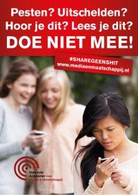 Poster A4 Pesten ShareGeenShit200