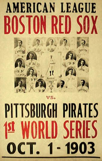 Vintage 1903 World Series Poster