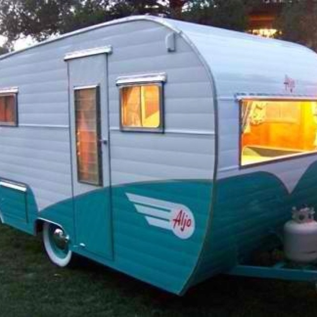 "Vintage camper...my idea of ""camping"""