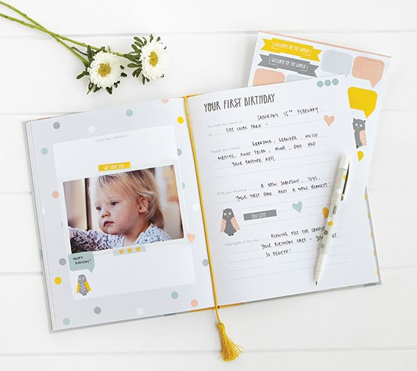 Cherish special memories with our Baby Book #shower #ideas #baby #book #kikkiK #gift