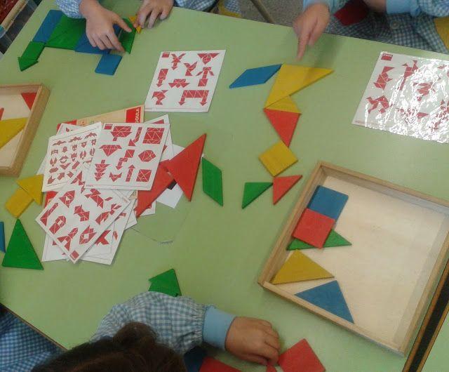 Un polsim de sal: El Tangram com a material pels racons d'aprenentatge.