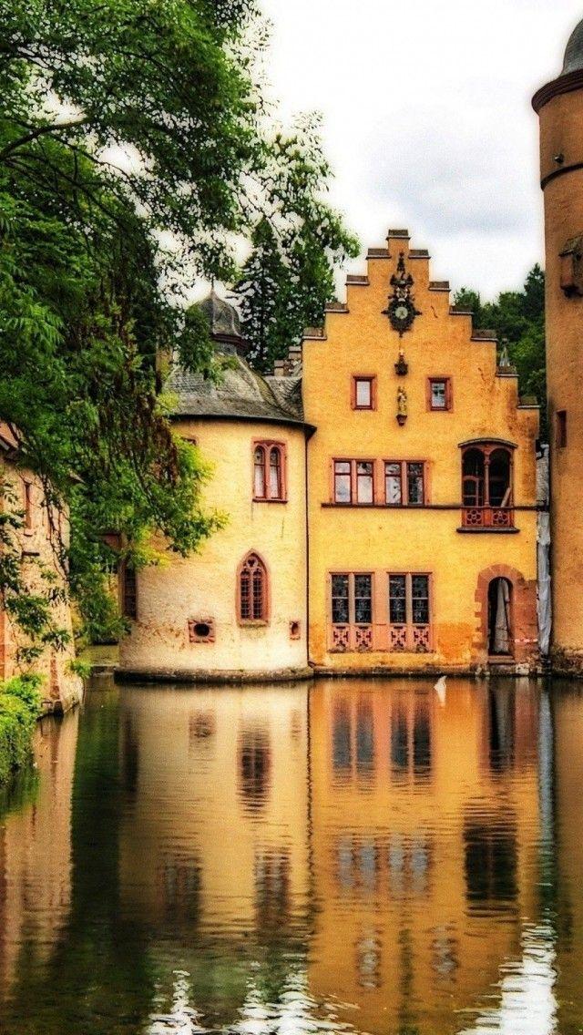 Mespelbrunn Castlea a medieval moated castle - Lower Franconia, Germany