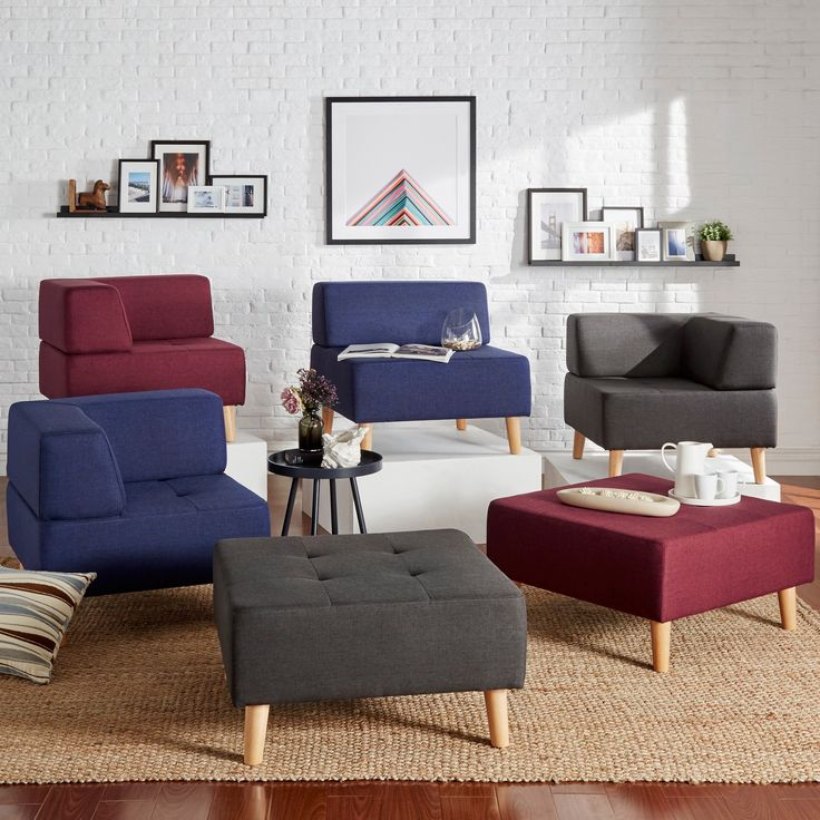 Decorate Your Living Space With This Stylish Modular Style Linen  Upholstered Seating