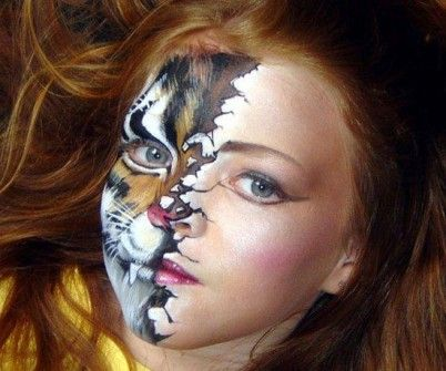 Maquillaje para Halloween de tigre